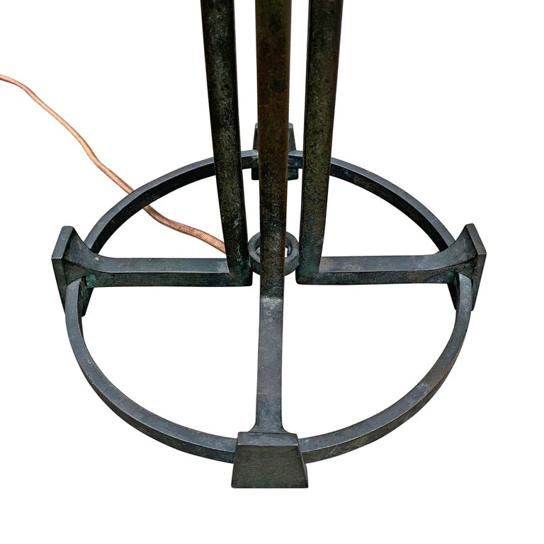 Vienna Secession Bronze Table Lamp For Sale 9