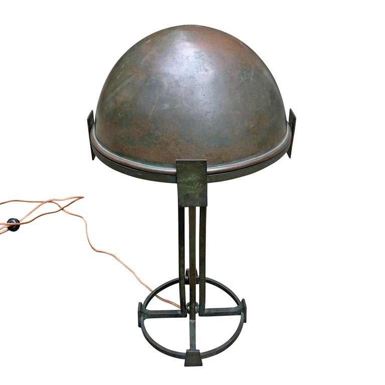 German Vienna Secession Bronze Table Lamp For Sale