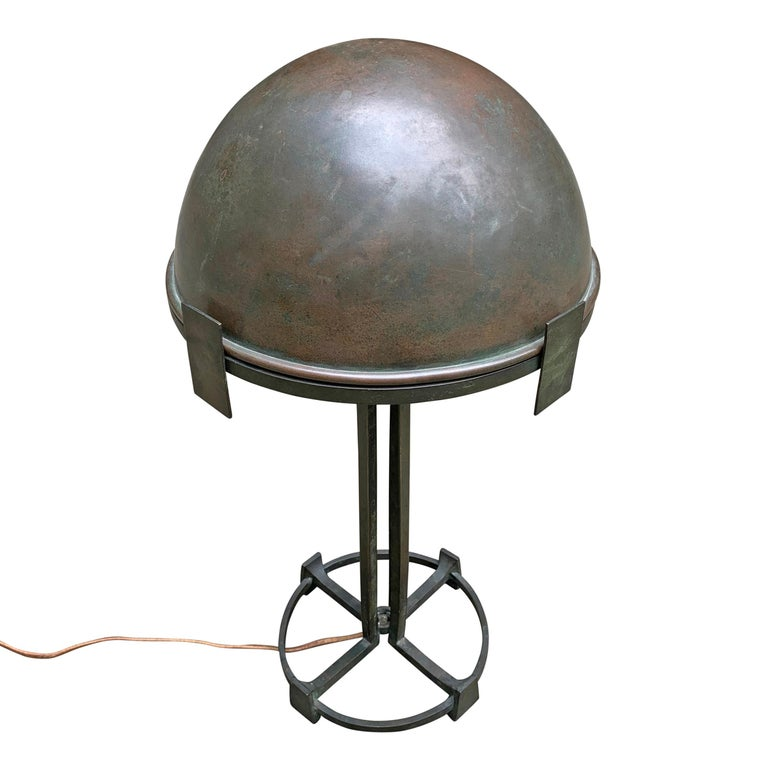 Early 20th Century Vienna Secession Bronze Table Lamp For Sale