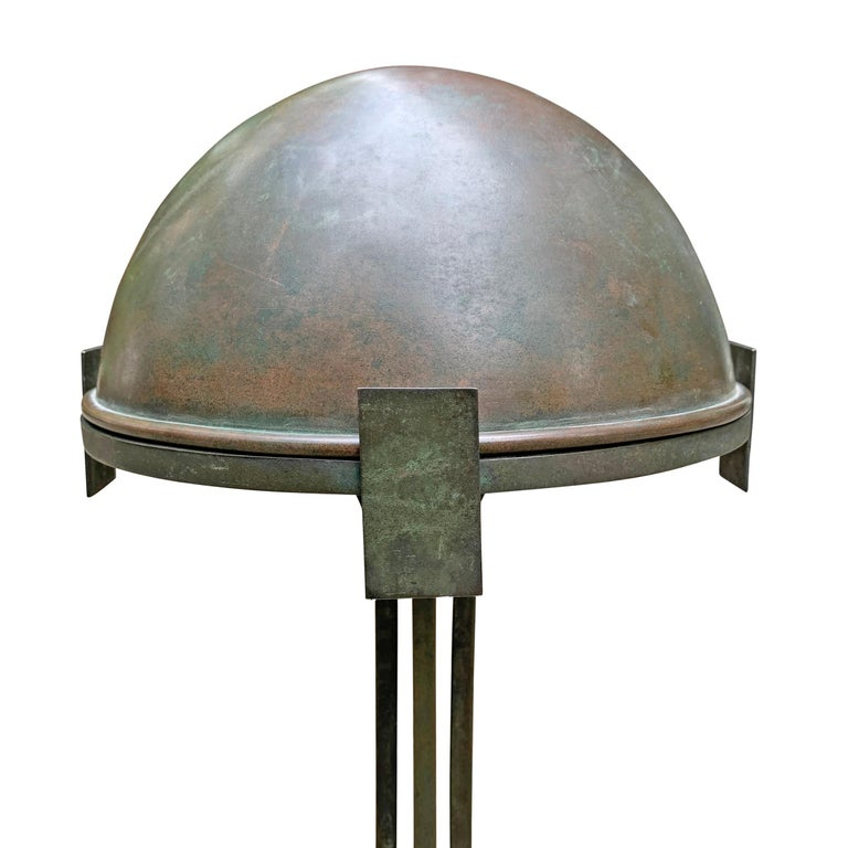 Vienna Secession Bronze Table Lamp For Sale 1