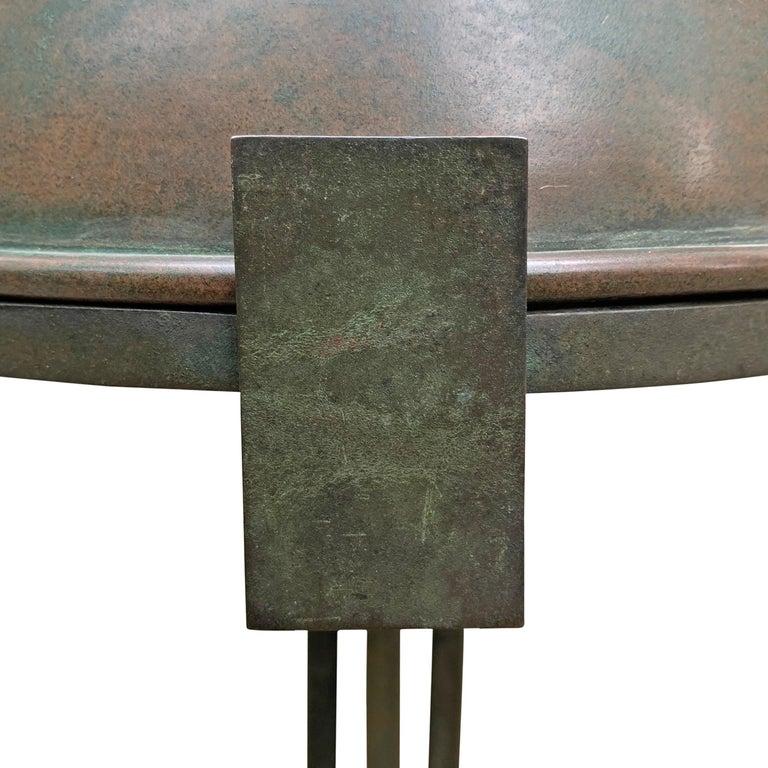 Vienna Secession Bronze Table Lamp For Sale 2