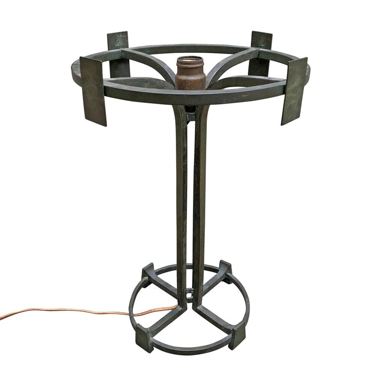 Vienna Secession Bronze Table Lamp For Sale 3