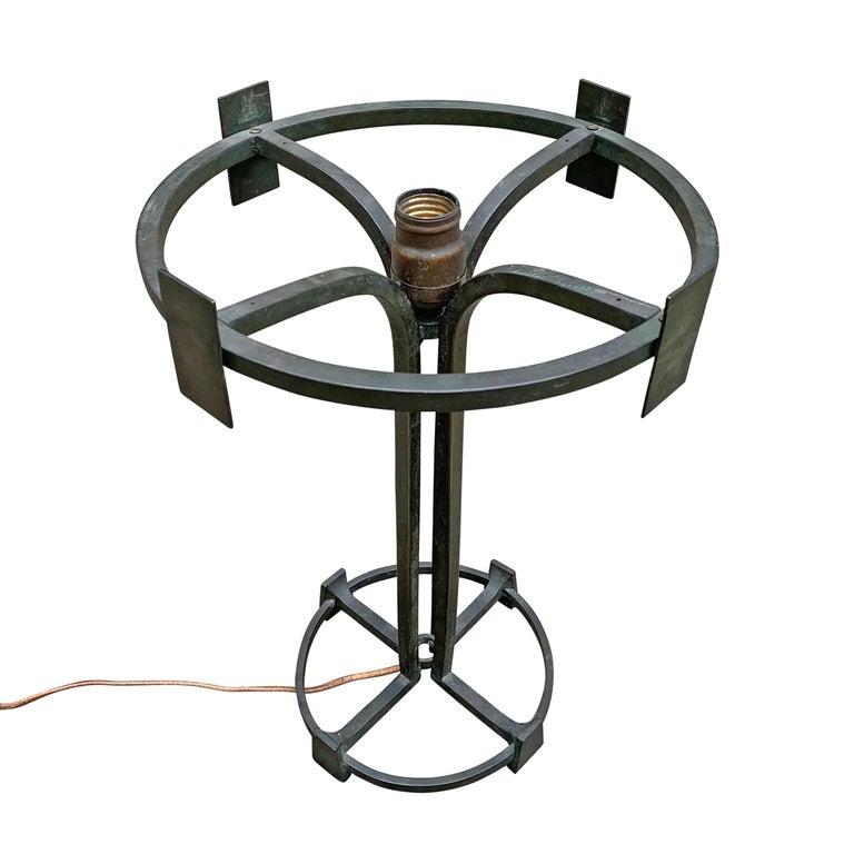 Vienna Secession Bronze Table Lamp For Sale 4
