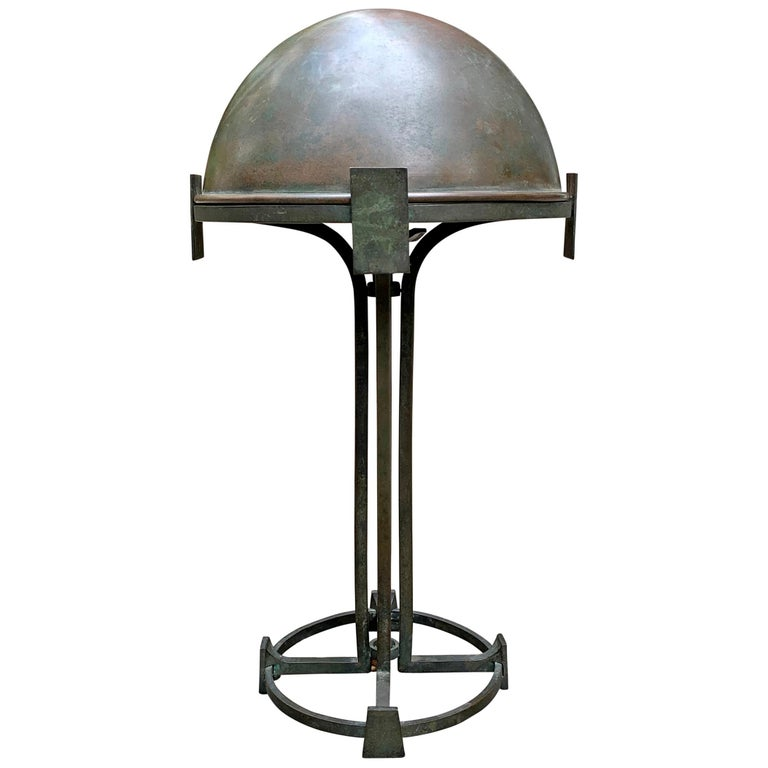 Vienna Secession Bronze Table Lamp For Sale