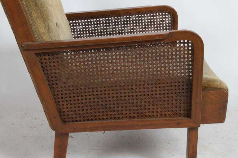 Vienna Secession Club Chair with Caned Panels For Sale 5
