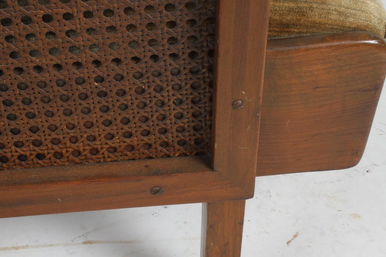 Vienna Secession Club Chair with Caned Panels For Sale 6