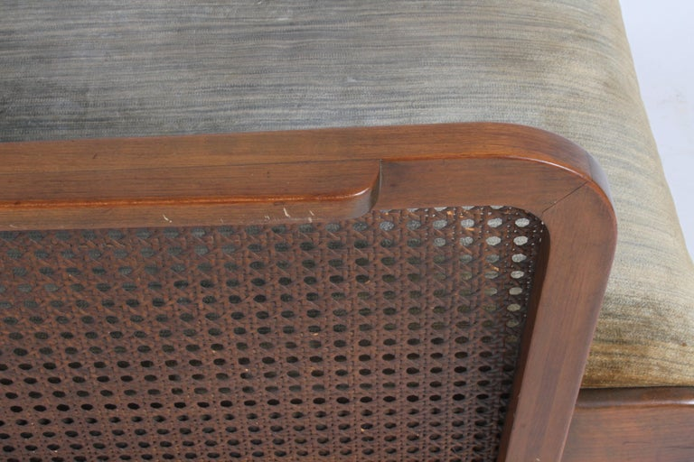 Vienna Secession Club Chair with Caned Panels For Sale 7