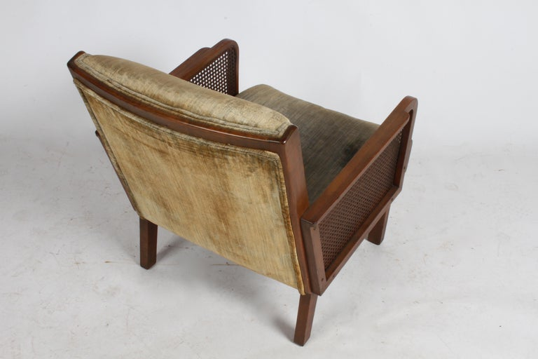 Vienna Secession Club Chair with Caned Panels For Sale 11