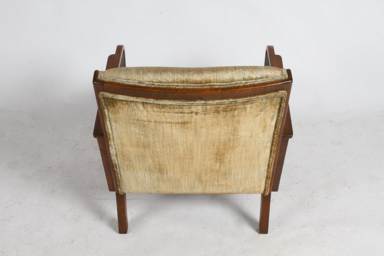 Vienna Secession Club Chair with Caned Panels For Sale 12