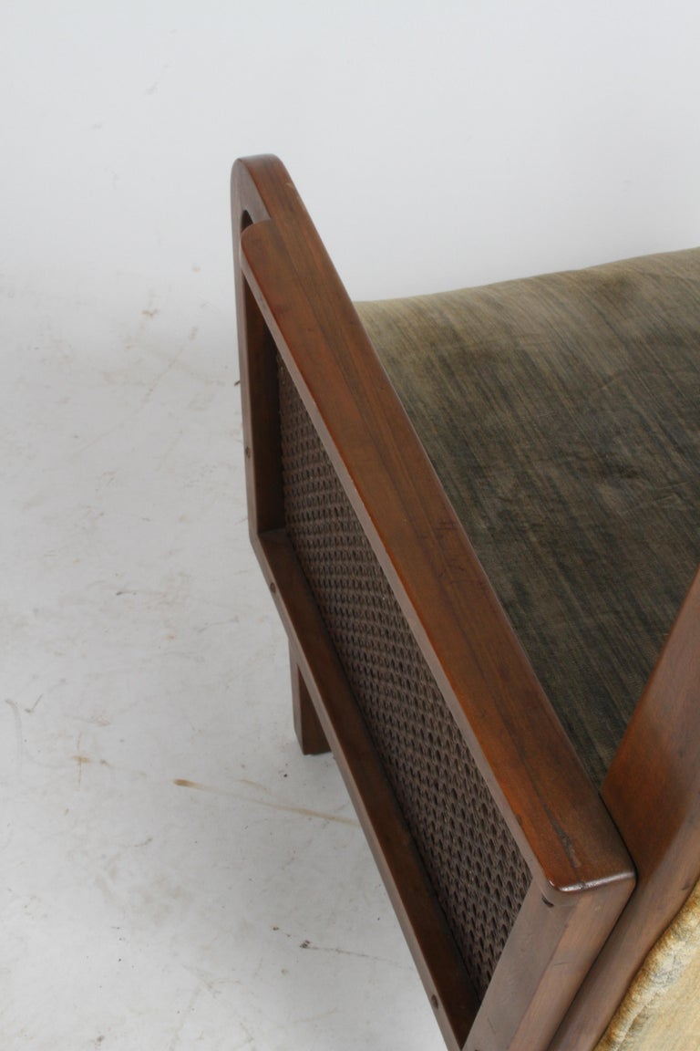 Vienna Secession Club Chair with Caned Panels For Sale 13