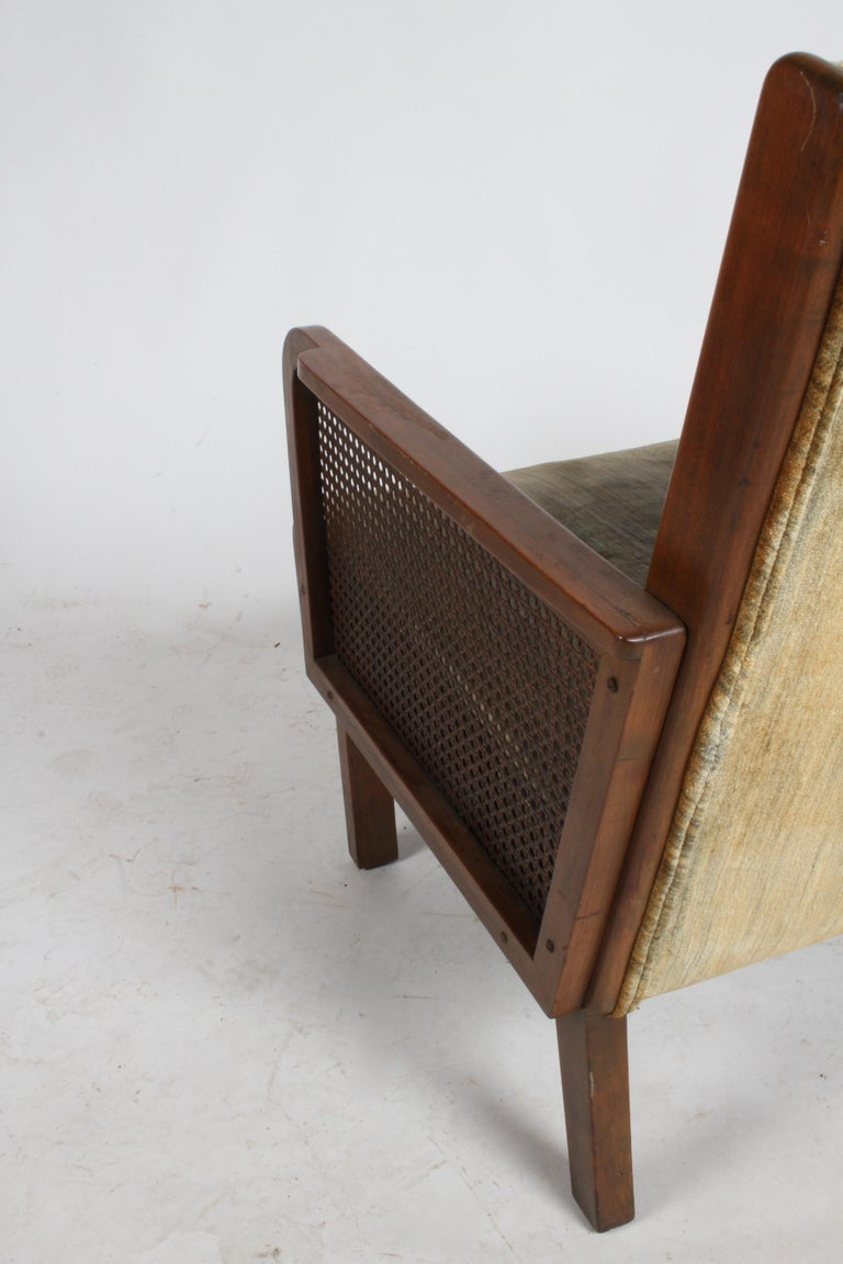Vienna Secession Club Chair with Caned Panels For Sale 14