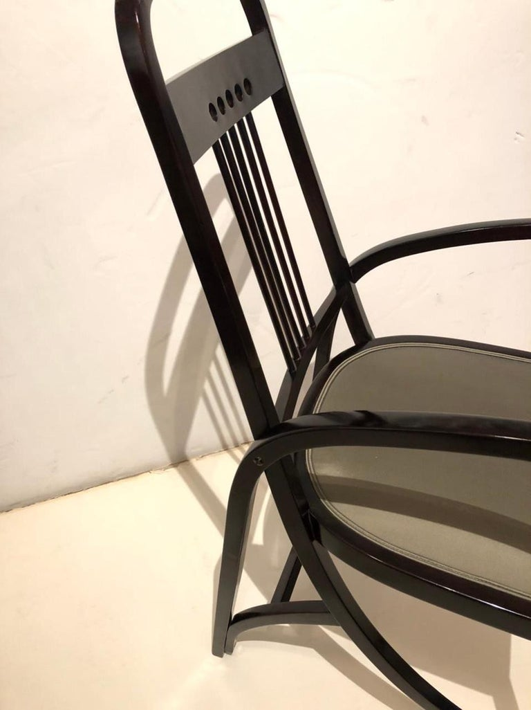 Austrian Vienna Secession Thonet Bentwood Armchair For Sale