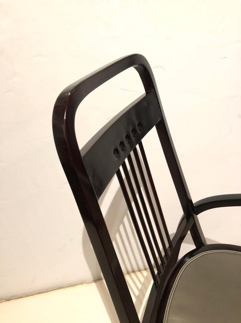 Stained Vienna Secession Thonet Bentwood Armchair For Sale