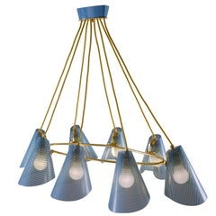 Viennese 1960s Brass Chandelier Mid-Century Modern available n different colours