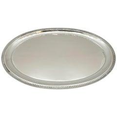 Viennese Art Nouveau Oval Silver Platter Schwarz & Steiner, 1922