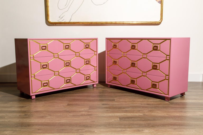 Viennese Collection Dressers by Dorothy Draper for Henredon, circa 1960, Signed In Excellent Condition For Sale In Los Angeles, CA