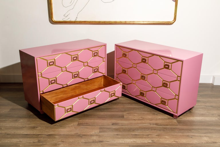 Viennese Collection Dressers by Dorothy Draper for Henredon, circa 1960, Signed For Sale 5