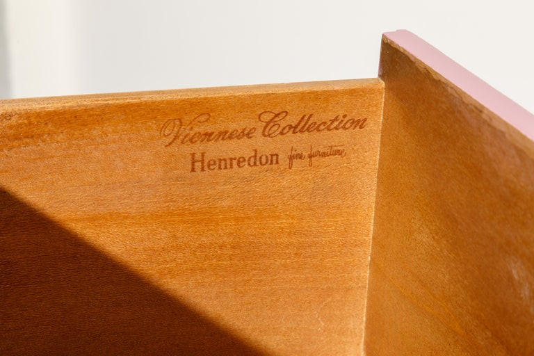 Mid-Century Modern Viennese Collection Dressers by Dorothy Draper for Henredon, circa 1960, Signed For Sale