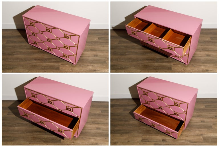 American Viennese Collection Dressers by Dorothy Draper for Henredon, circa 1960, Signed For Sale