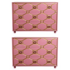 Viennese Collection Dressers by Dorothy Draper for Henredon, circa 1960, Signed