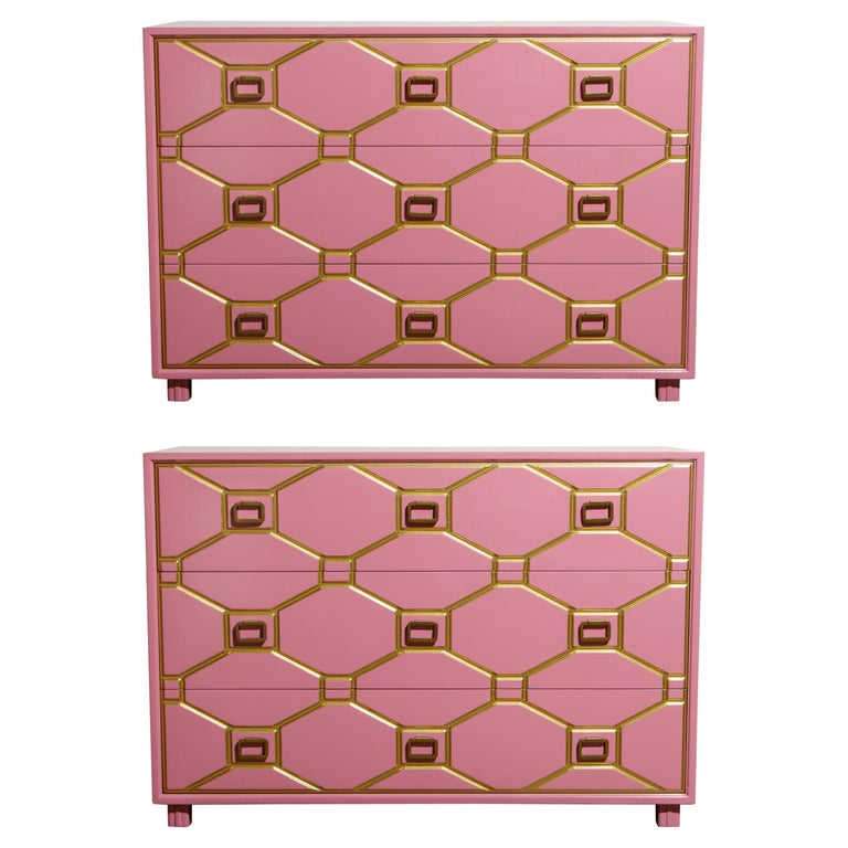 Viennese Collection Dressers by Dorothy Draper for Henredon, circa 1960, Signed For Sale