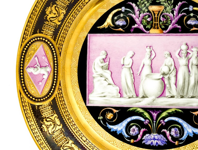 Early 19th Century Viennese Imperial Porcelain Splendour Plate, Wien Sorgenthal Period, 1805