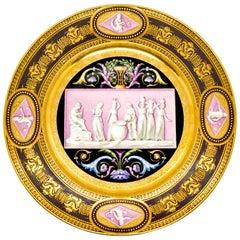 Viennese Imperial Porcelain Splendour Plate, Wien Sorgenthal Period, 1805