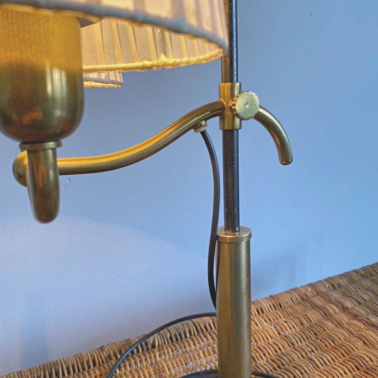 Josef Frank Two Light Brass Table Lamp, Viennese Modern Age, Austria For Sale 8