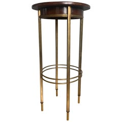 Viennese Secession Brass and Wood Pedestal or Display Stand by Ernst Rockhausen