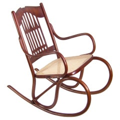 Viennese Secession Rocking chair J&J Kohn Nr.813, circa 1902, Koloman Moser