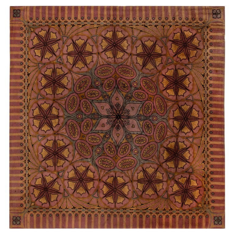Viennese Secessionist Rug For Sale
