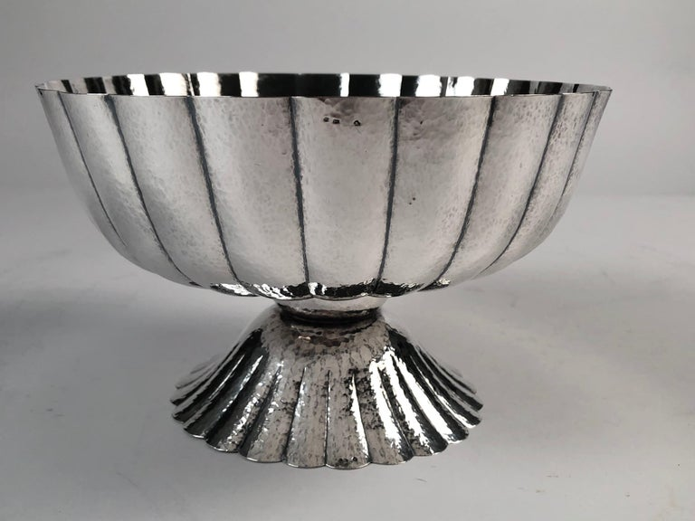 Viennese Secessionist Silver Footed Bowl after a Josef Hoffmann Design For Sale 2