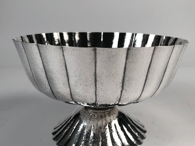 Austrian Viennese Secessionist Silver Footed Bowl after a Josef Hoffmann Design For Sale
