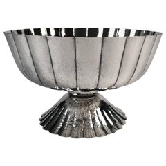 Viennese Secessionist Silver Footed Bowl after a Josef Hoffmann Design