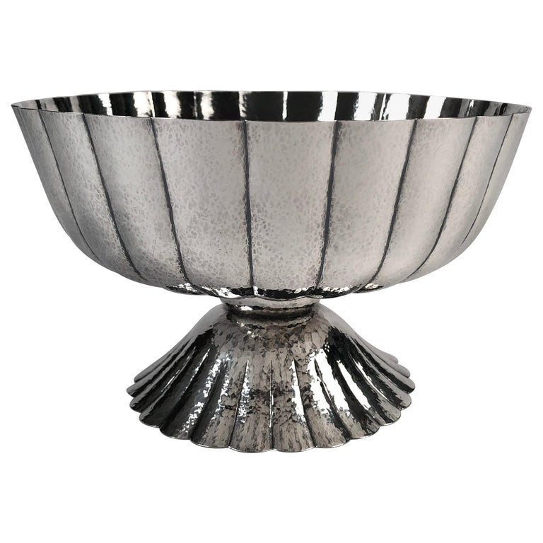 Viennese Secessionist Silver Footed Bowl after a Josef Hoffmann Design For Sale