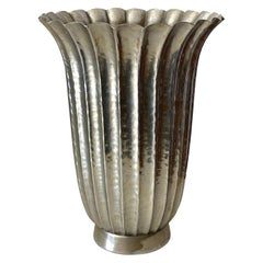 Viennese Secessionist Style Fluted Vase