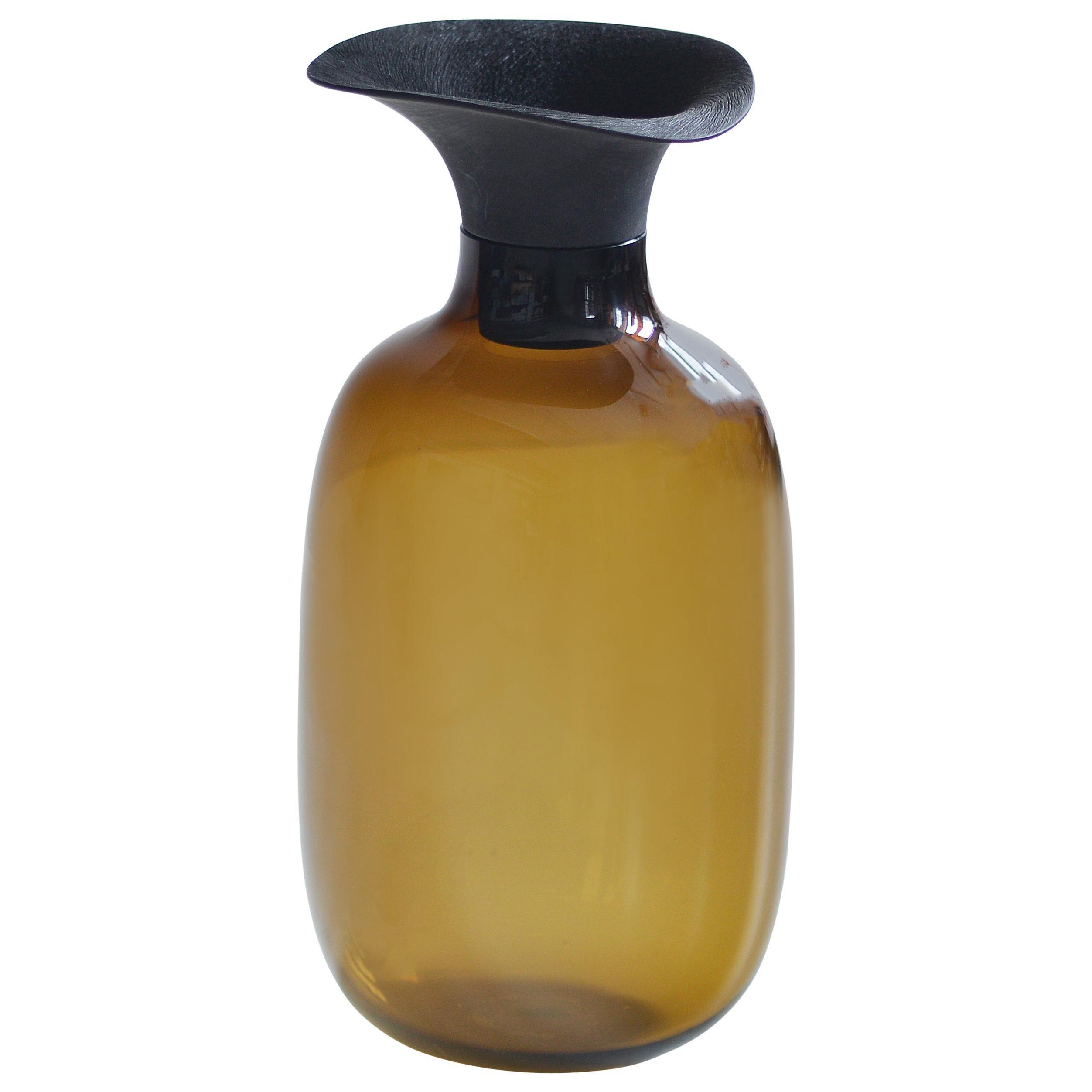 Vieno Bottle with Medium Wooden Cap by Antrei Hartikainen and Katriina Nuutinen