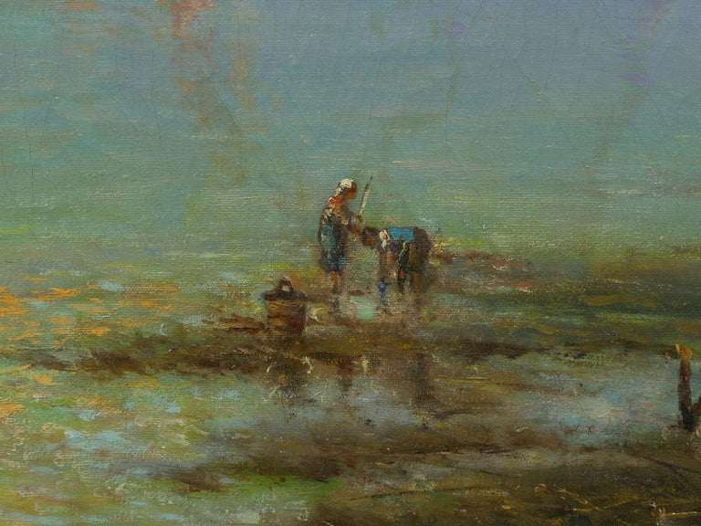 View Across the Lagoon, Venice Antique Painting by Nicholas Briganti For Sale 6
