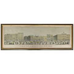 """View of Broadway, N.Y. 1853"" Engraving by J. Wade and H. Bricher"