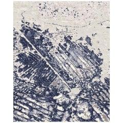 Views Hand Knotted Wool and Bamboo Silk Bespoke Carpet by Malene Barnett