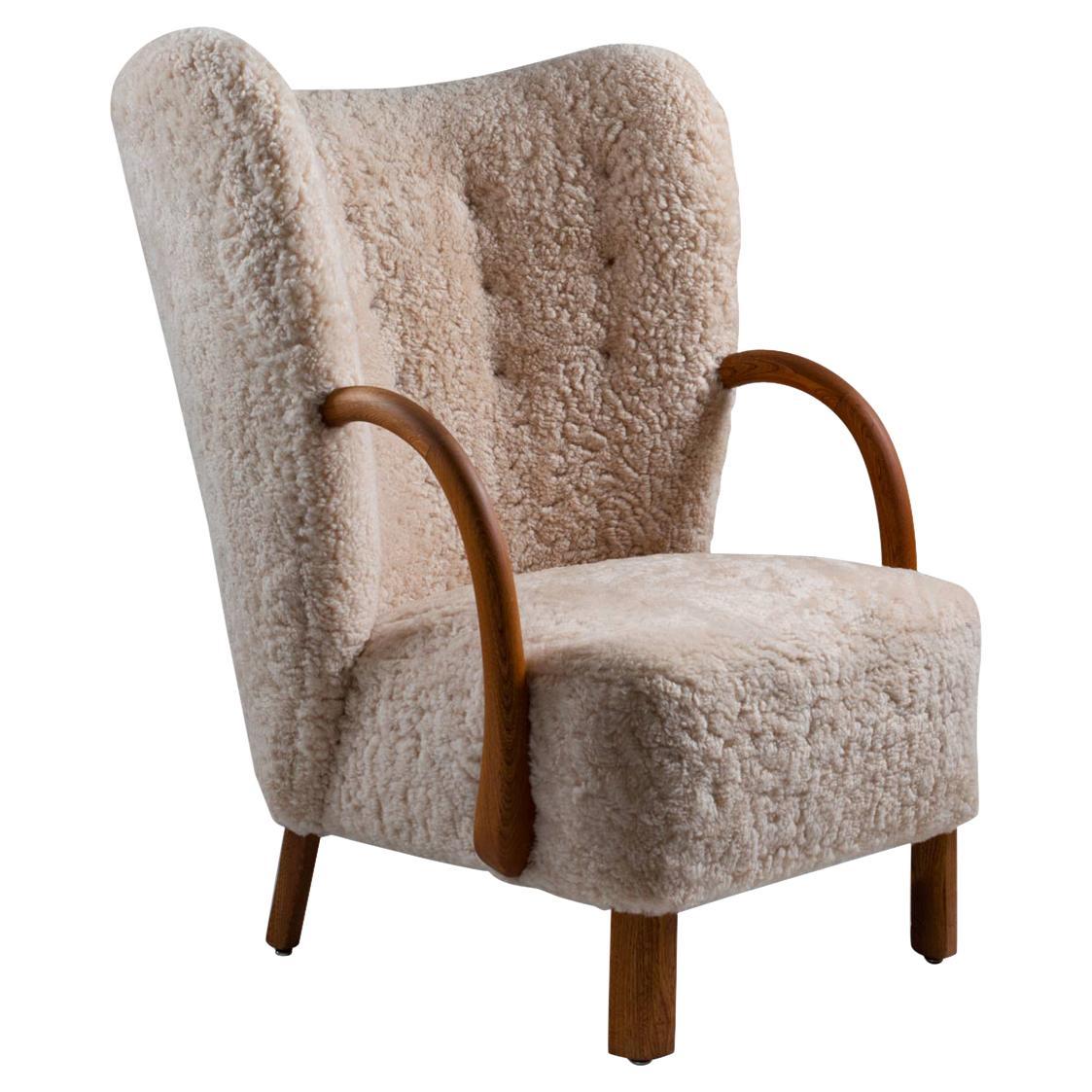 Viggo Boesen Attributed Lounge Chair No 107 for Slagelse Møbelværk