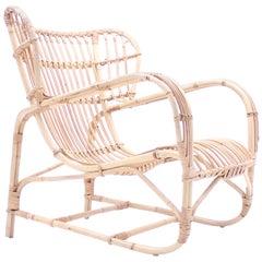 Viggo Boesen, Bamboo & Rattan Easy Chair, 1960s