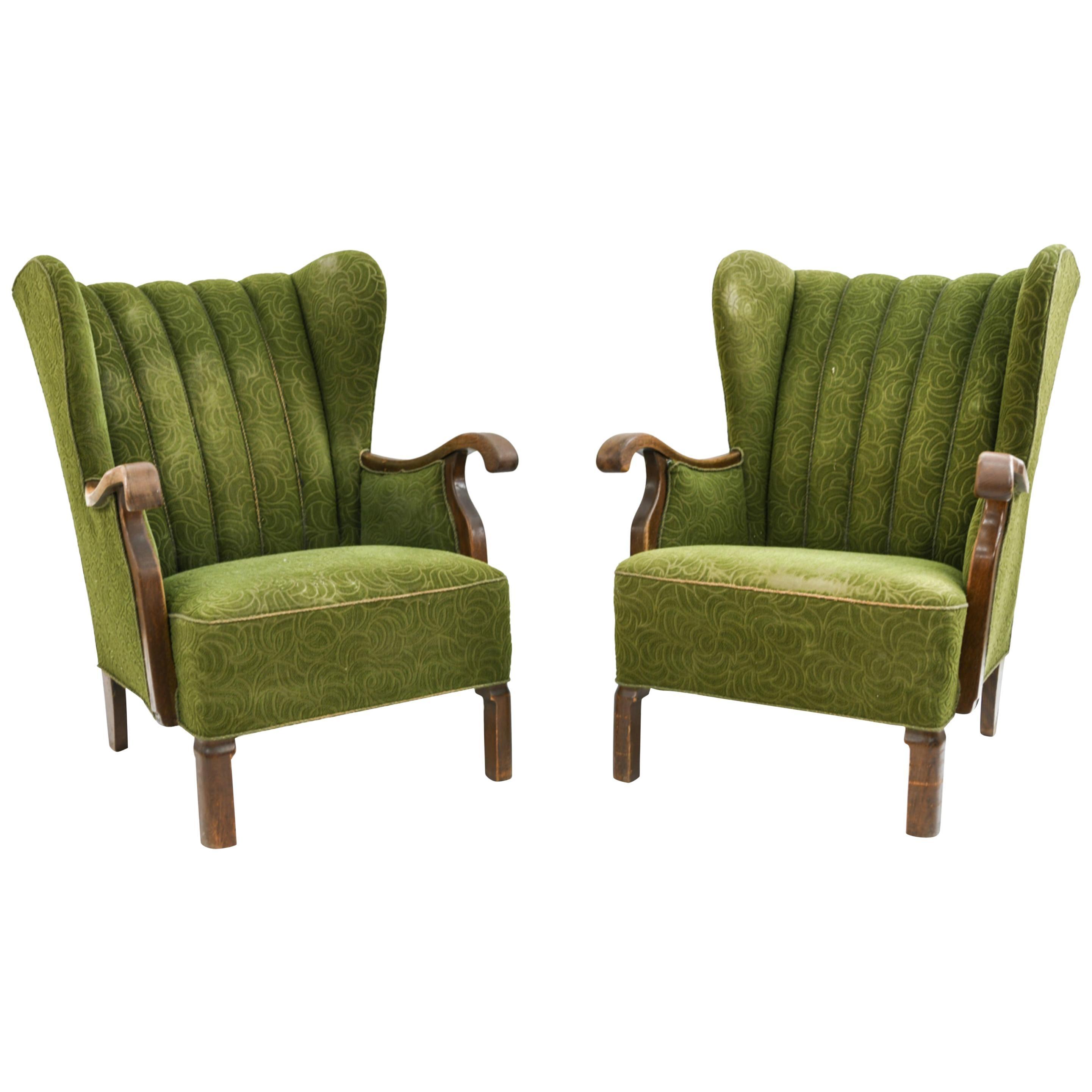Viggo Boesen for Slagelse Highback Lounge Chairs