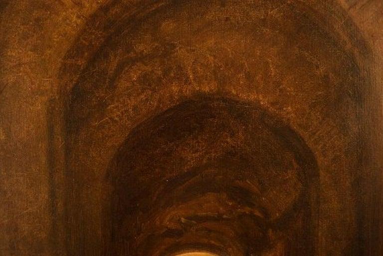 Early 20th Century Viggo Johansen, Well Listed Danish Artist, Amphitheatre, Pompeii For Sale