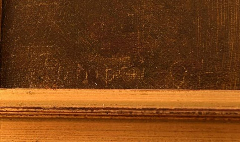 Viggo Johansen, Well Listed Danish Artist, Amphitheatre, Pompeii For Sale 1