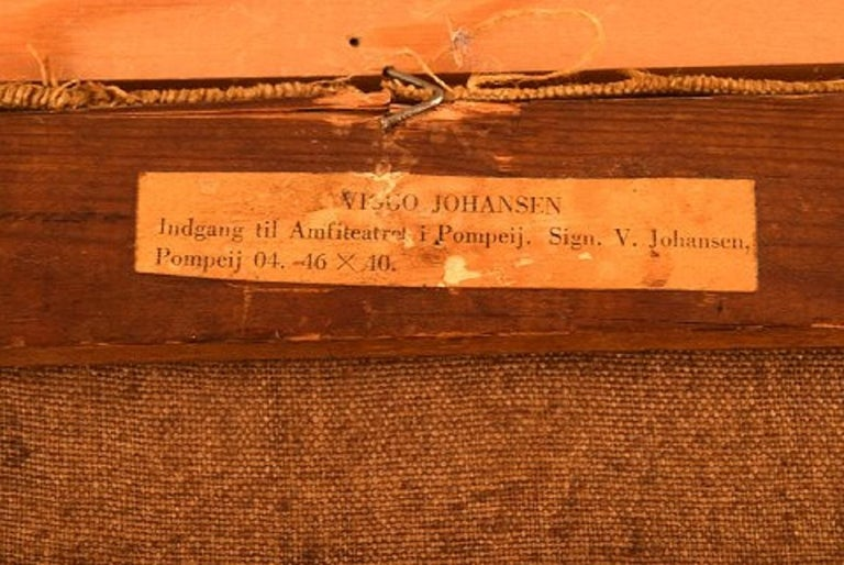 Viggo Johansen, Well Listed Danish Artist, Amphitheatre, Pompeii For Sale 3