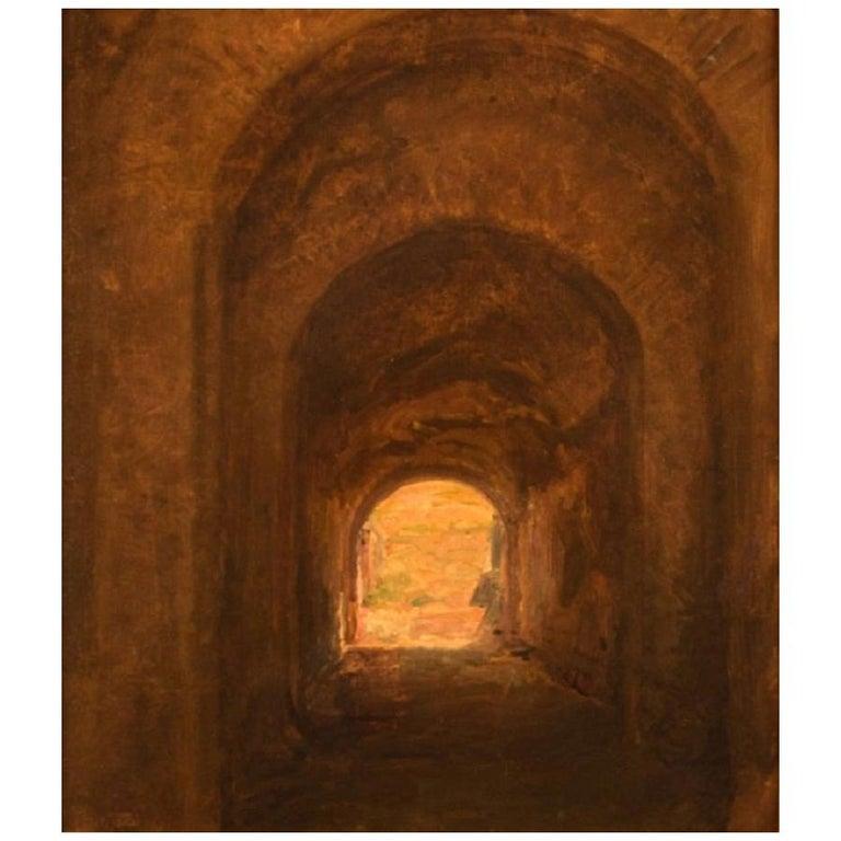 Viggo Johansen, Well Listed Danish Artist, Amphitheatre, Pompeii For Sale