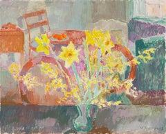 'Still Life of Daffodils', Paris Modernist, Royal Danish Academy, Charlottenborg