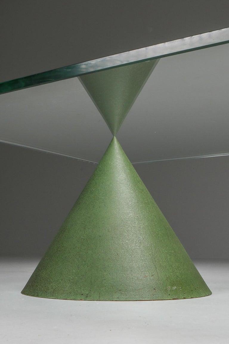 Vignelli Marble and Copper 'Kono' Coffee Table 4