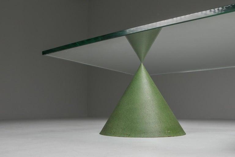 Vignelli Marble and Copper 'Kono' Coffee Table 2